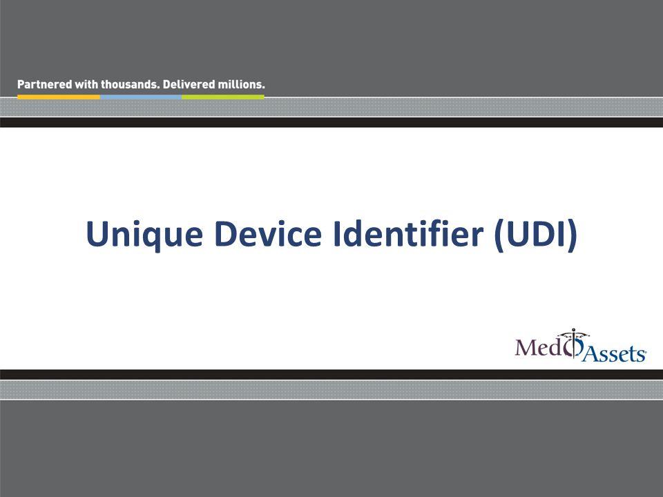 Unique Device Identifier (UDI)