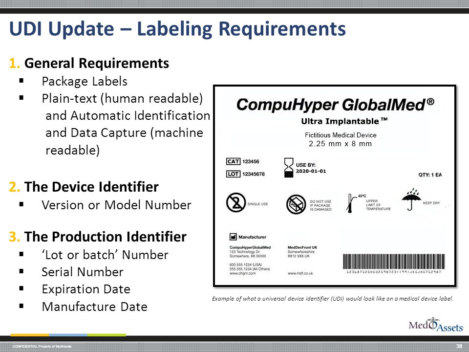 UDI Update – Labeling Requirements