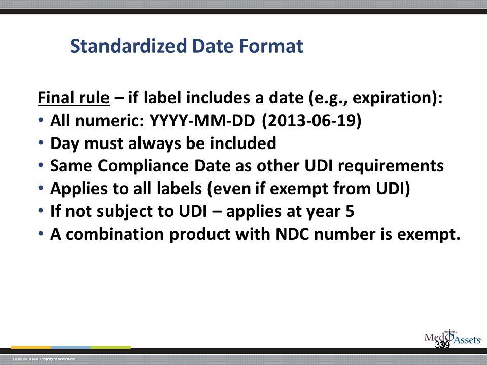 Standardized Date Format