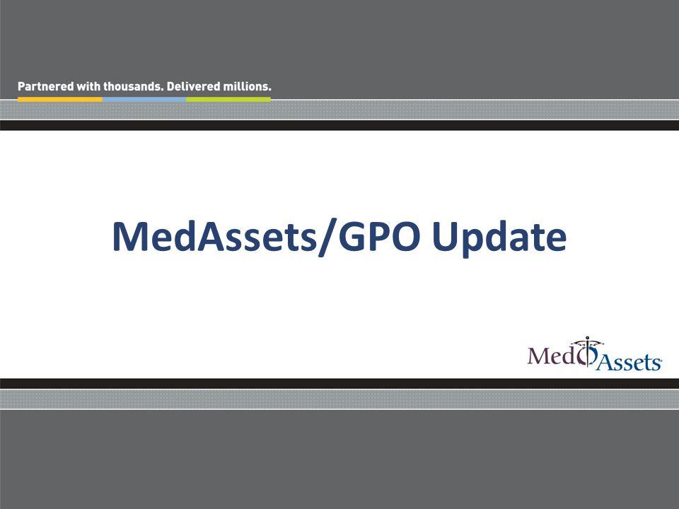 MedAssets/GPO Update