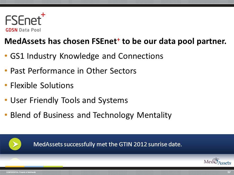 MedAssets has chosen FSEnet+ to be our data pool partner.