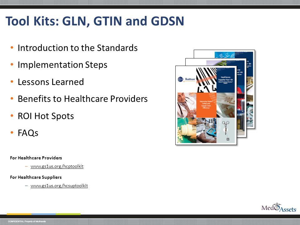 Tool Kits: GLN, GTIN and GDSN