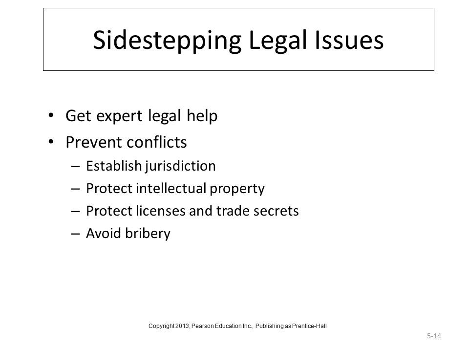 Sidestepping Legal Issues
