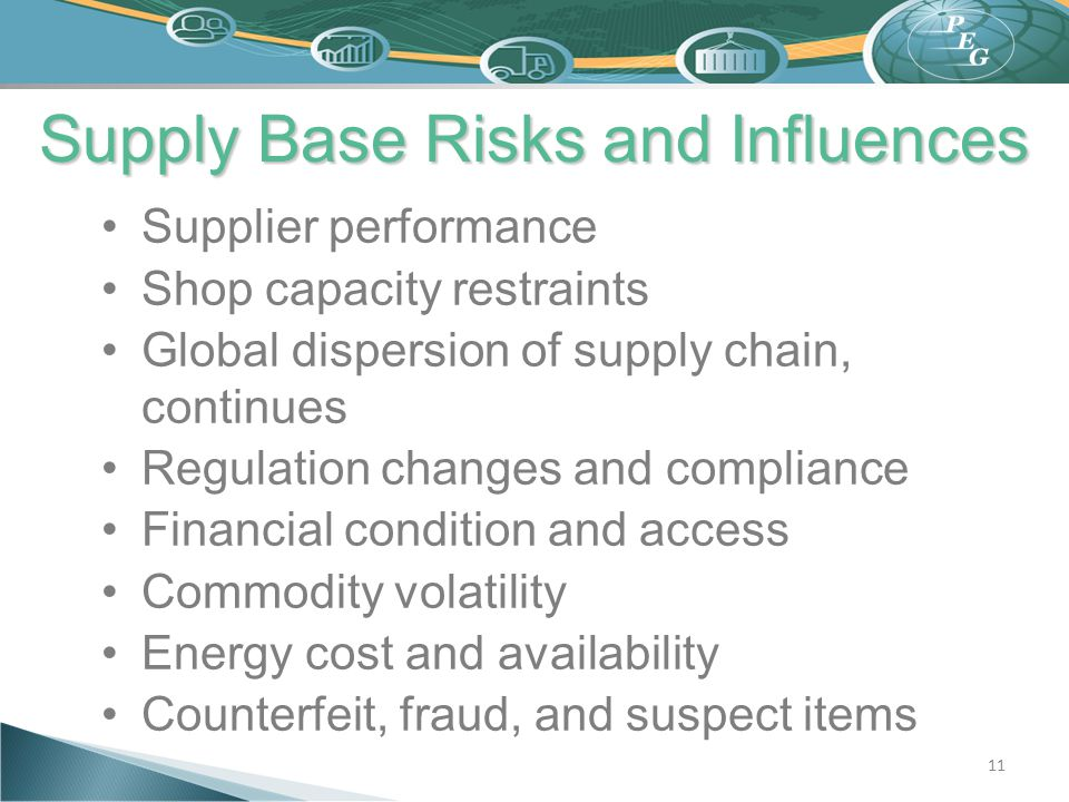 Supply Base Risks and Influences