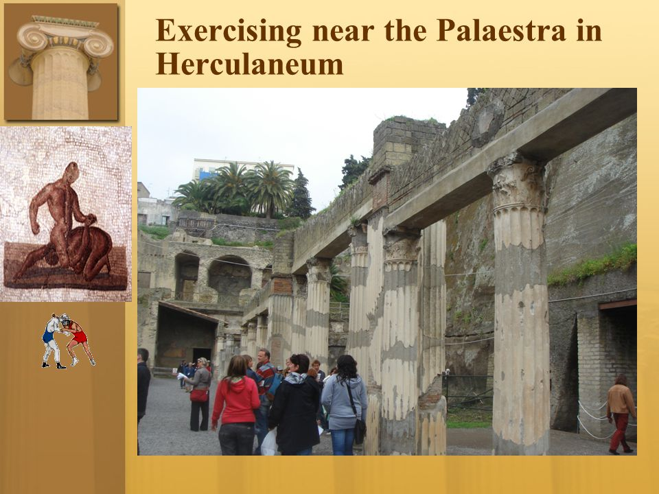 Exercising near the Palaestra in Herculaneum