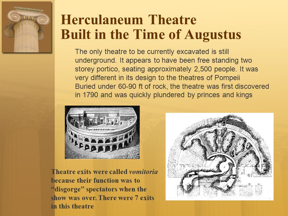 Herculaneum Theatre Built in the Time of Augustus
