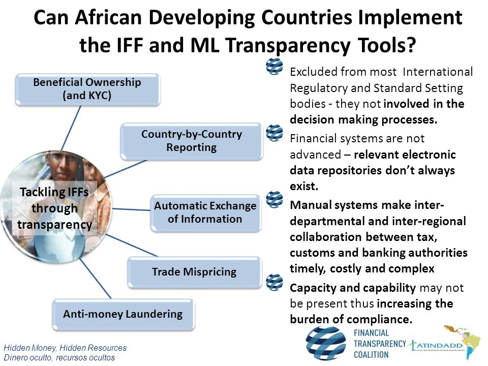 Can African Developing Countries Implement the IFF and ML Transparency Tools