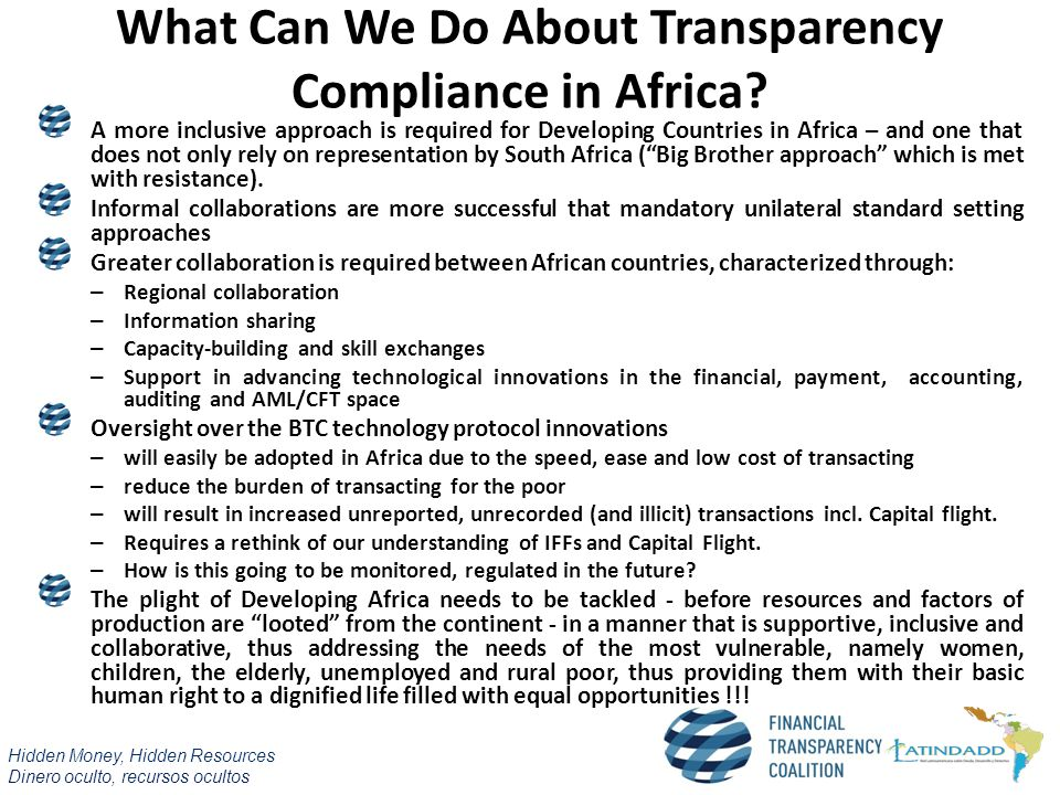 What Can We Do About Transparency Compliance in Africa