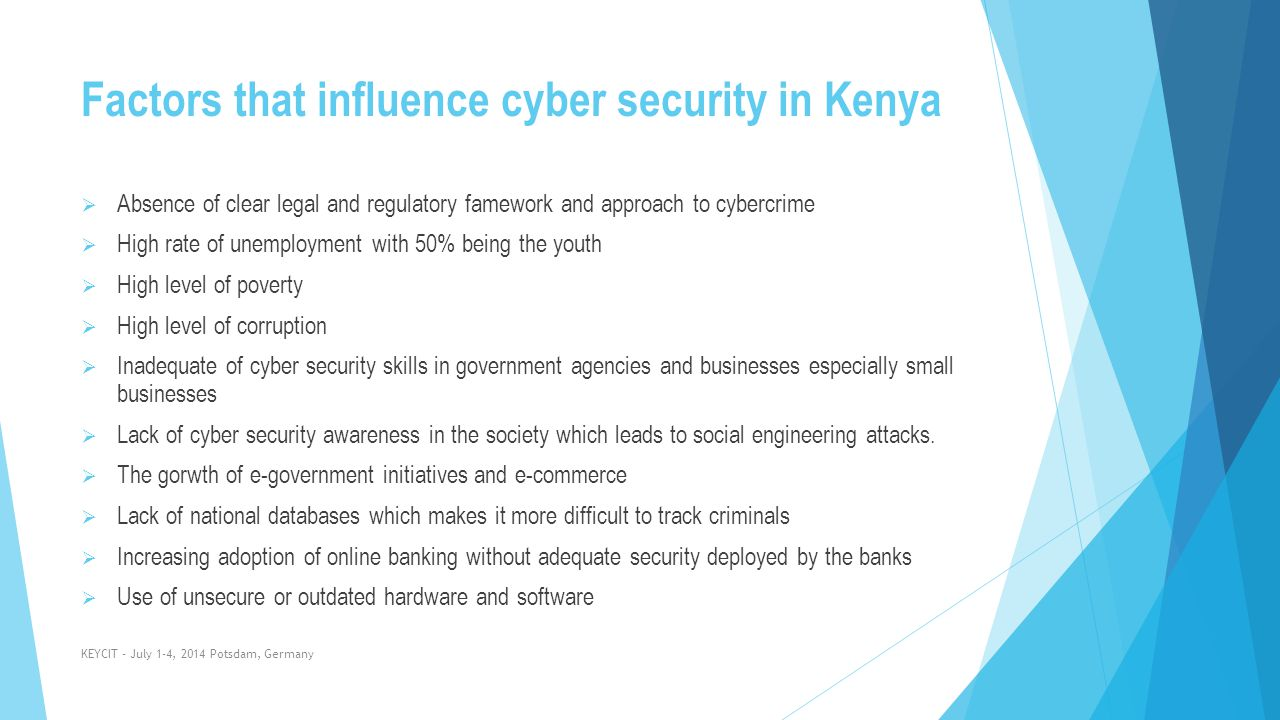 Factors that influence cyber security in Kenya