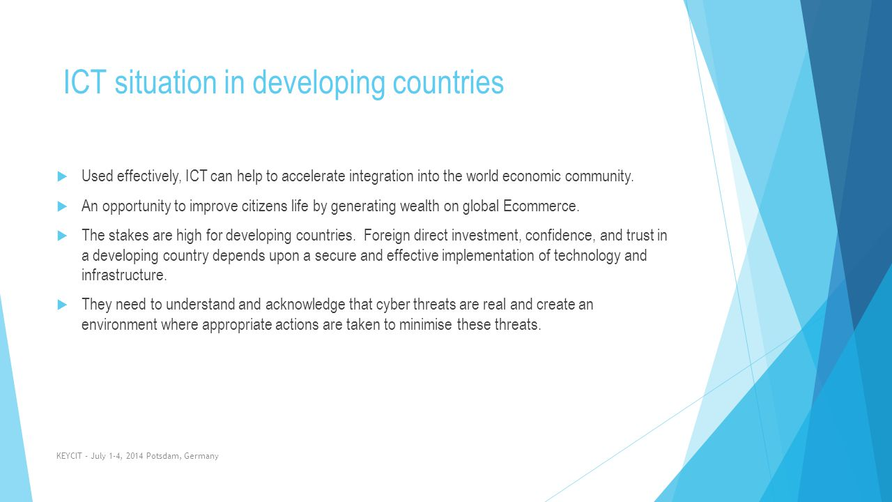 ICT situation in developing countries