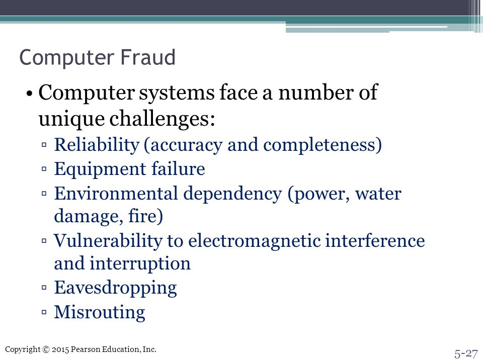 Computer systems face a number of unique challenges: