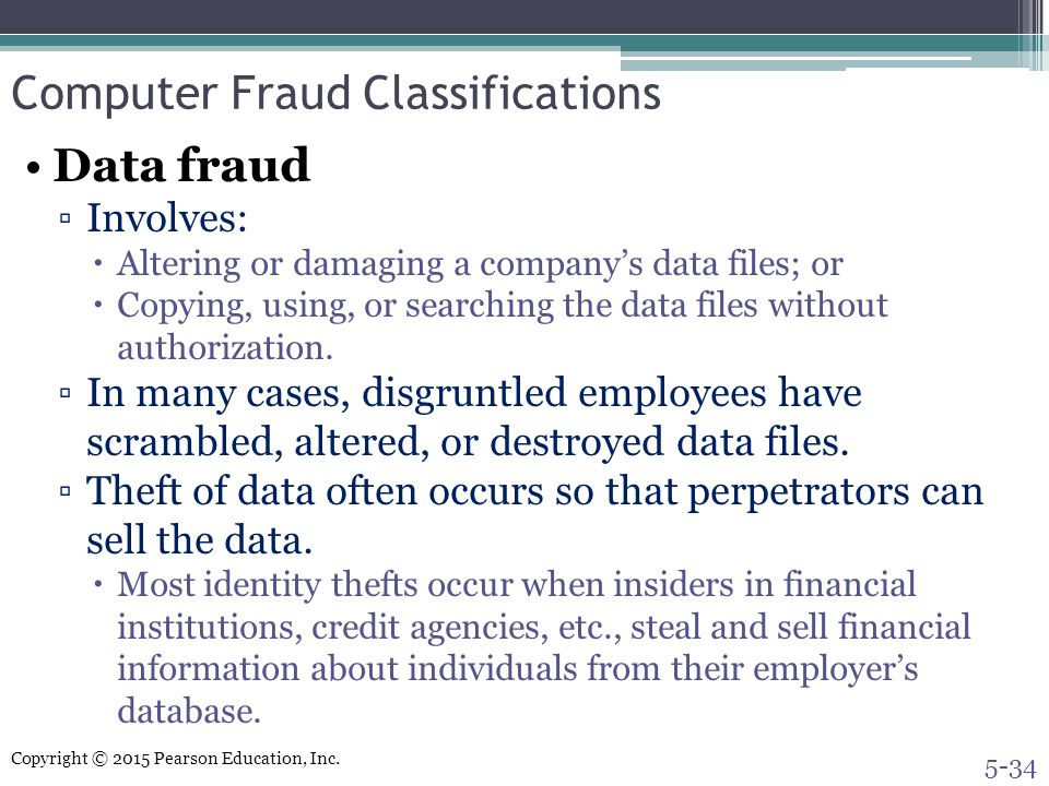 Computer Fraud Classifications