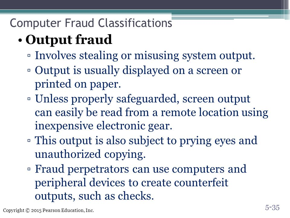 Computer Fraud Classifications