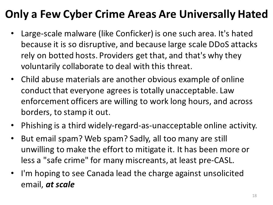 Only a Few Cyber Crime Areas Are Universally Hated