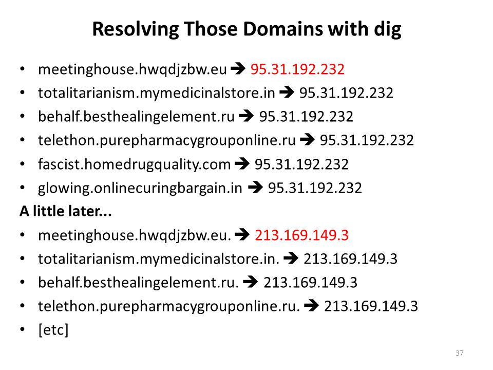 Resolving Those Domains with dig