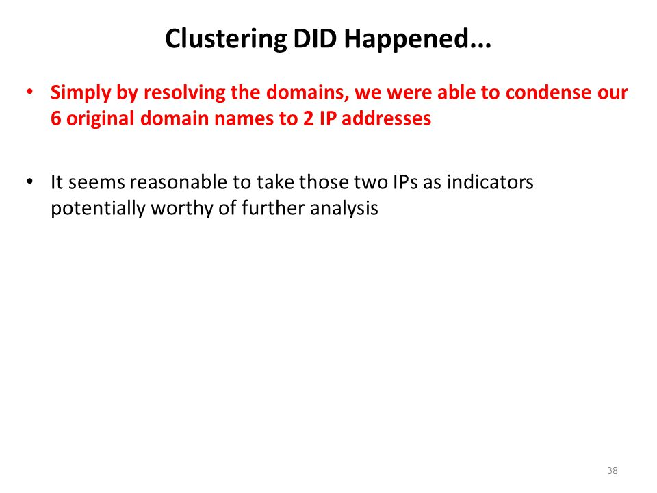 Clustering DID Happened...
