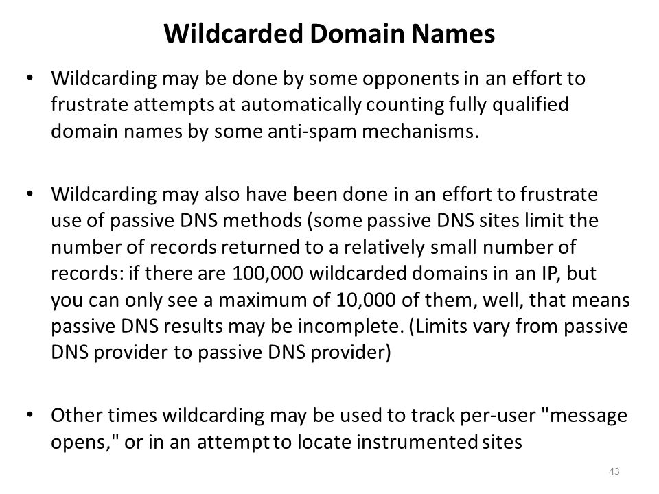Wildcarded Domain Names