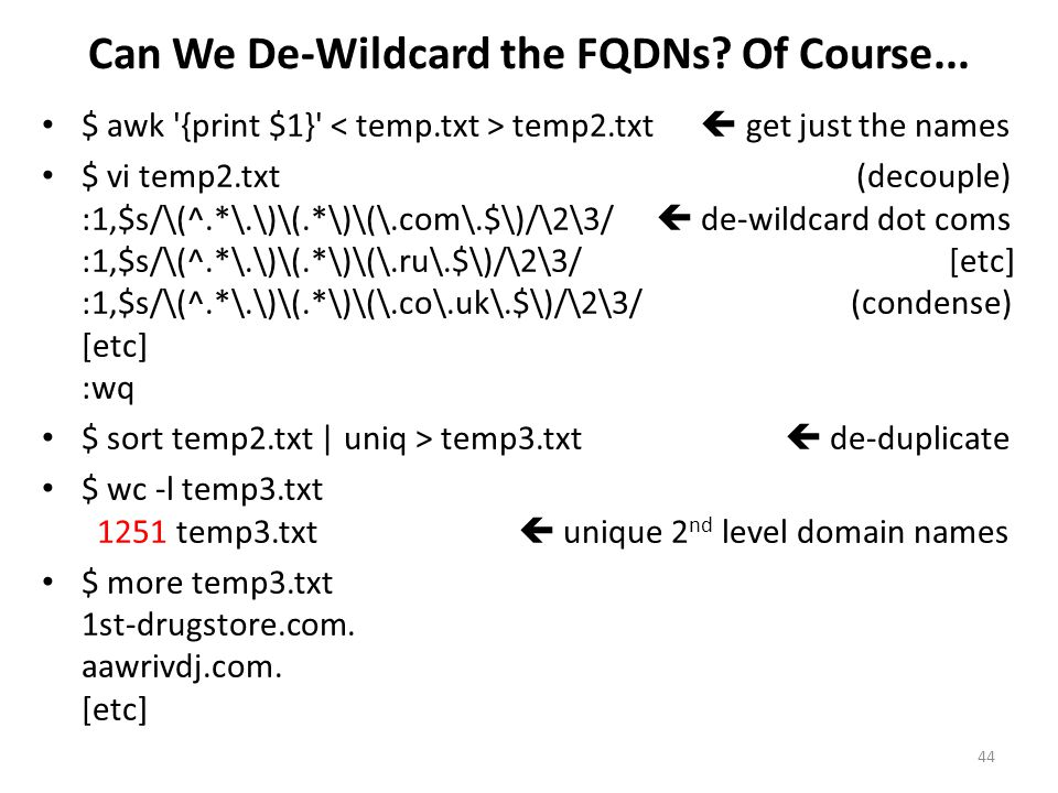Can We De-Wildcard the FQDNs Of Course...