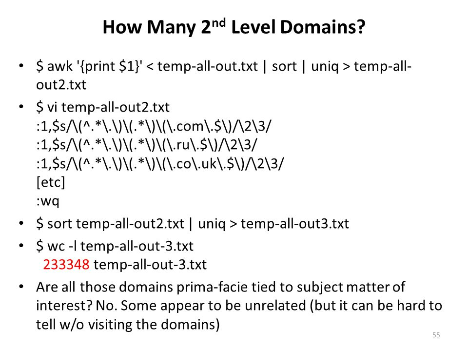 How Many 2nd Level Domains