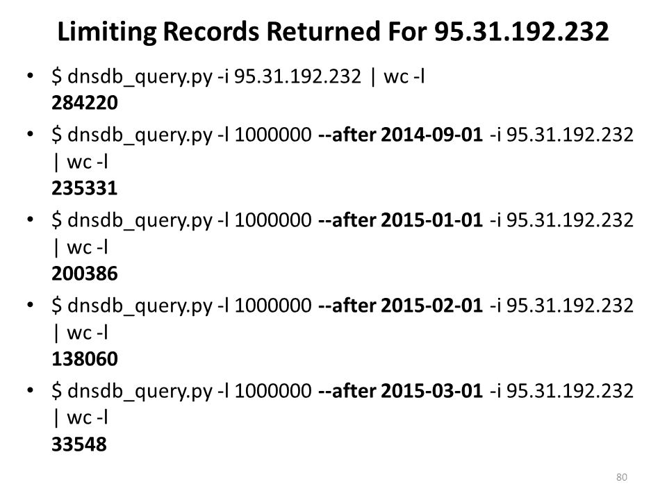 Limiting Records Returned For 95.31.192.232