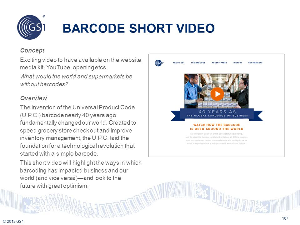BARCODE SHORT VIDEO
