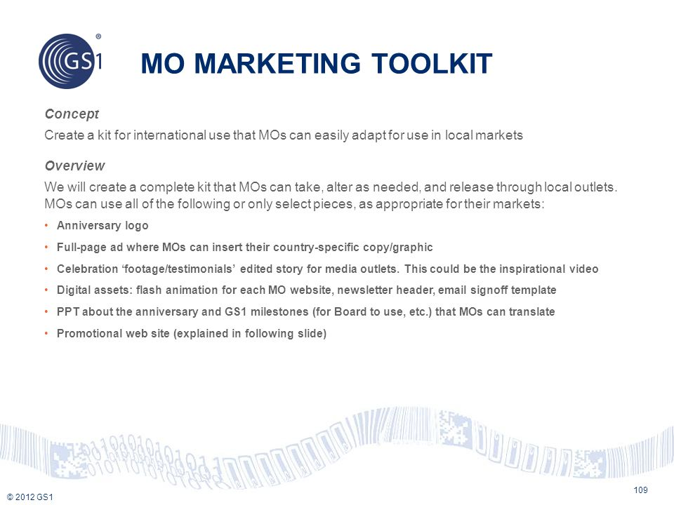 MO MARKETING TOOLKIT Concept