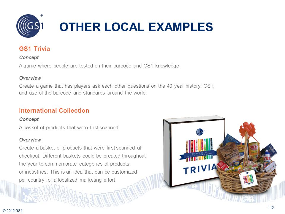 OTHER LOCAL EXAMPLES GS1 Trivia International Collection Concept