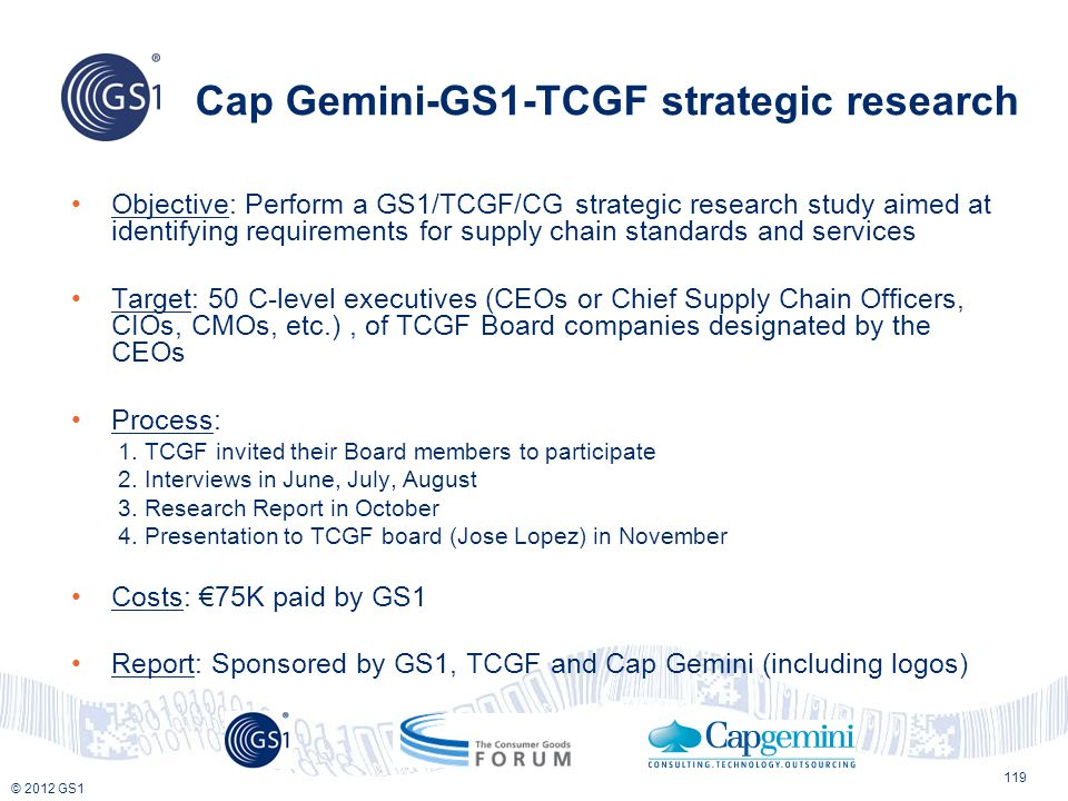 Cap Gemini-GS1-TCGF strategic research