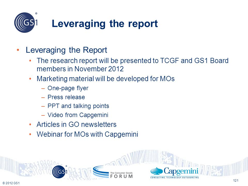 Leveraging the report Leveraging the Report