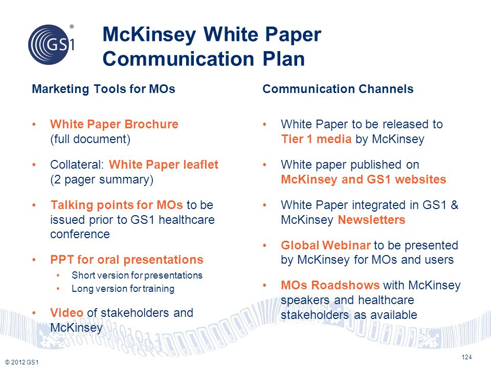 McKinsey White Paper Communication Plan