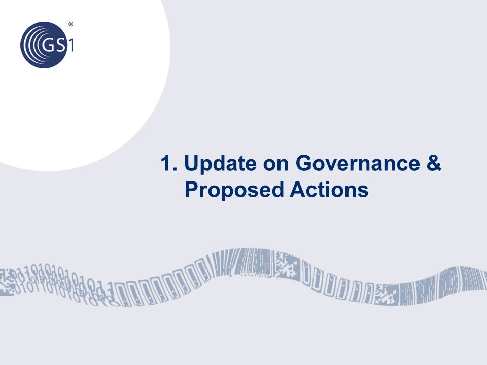 1. Update on Governance & Proposed Actions