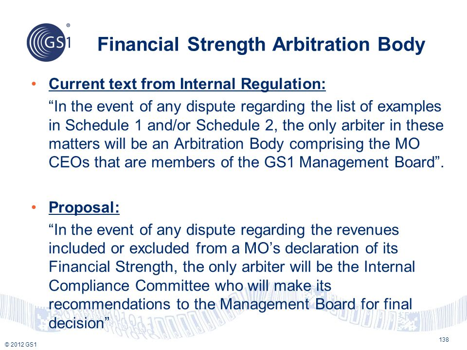 Financial Strength Arbitration Body