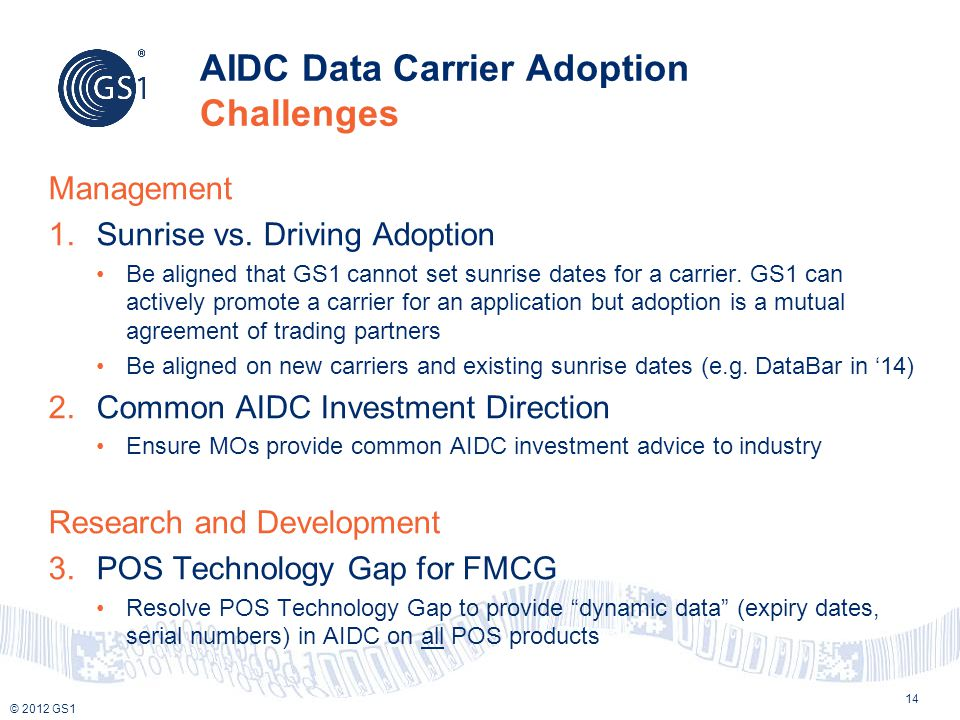AIDC Data Carrier Adoption Challenges