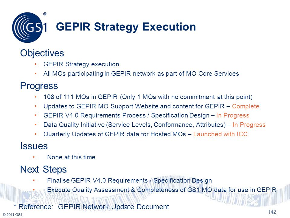 GEPIR Strategy Execution
