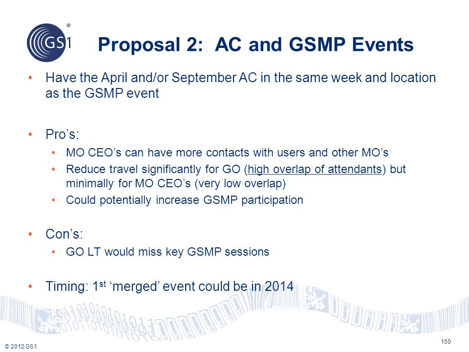 Proposal 2: AC and GSMP Events