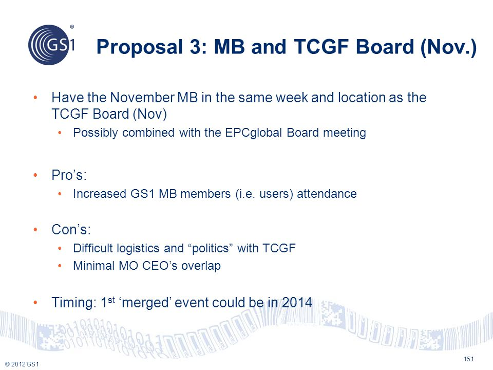 Proposal 3: MB and TCGF Board (Nov.)