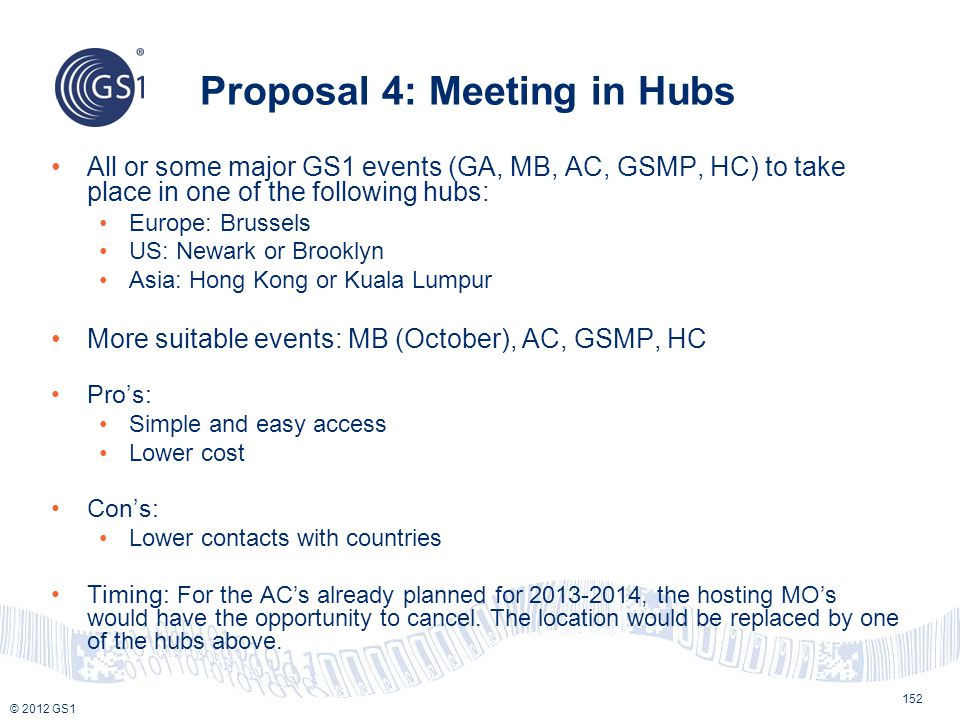 Proposal 4: Meeting in Hubs