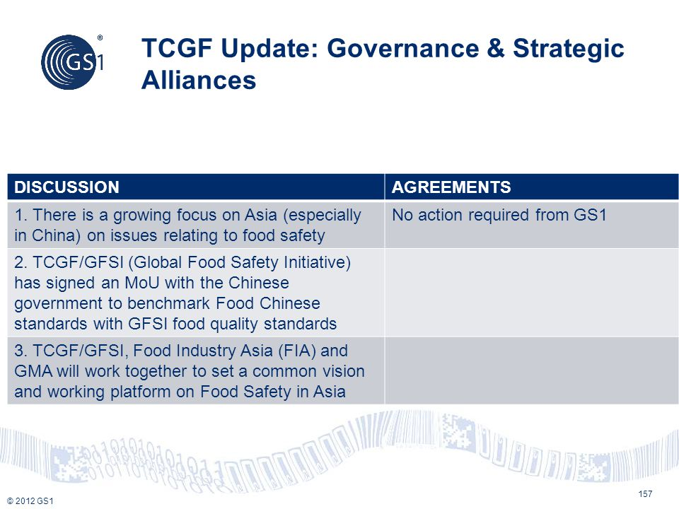 TCGF Update: Governance & Strategic Alliances