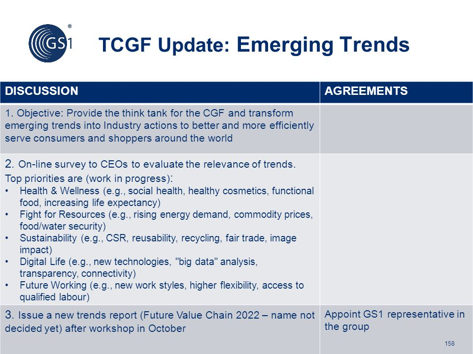 TCGF Update: Emerging Trends
