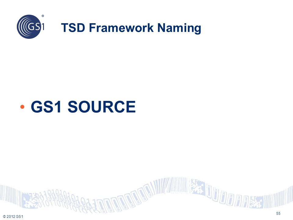 TSD Framework Naming GS1 SOURCE