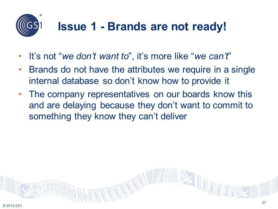 Issue 1 - Brands are not ready!