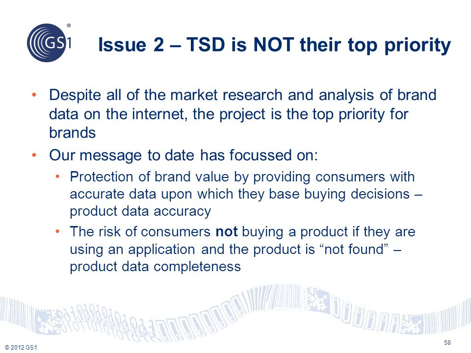 Issue 2 – TSD is NOT their top priority