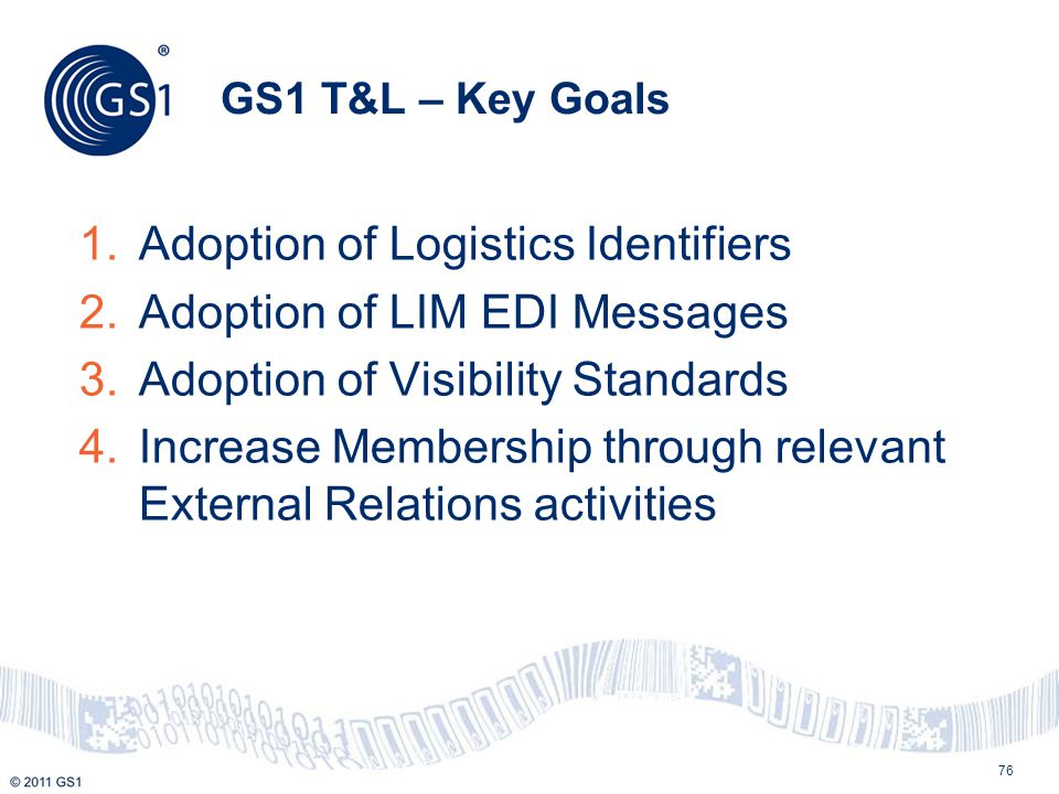 Adoption of Logistics Identifiers Adoption of LIM EDI Messages