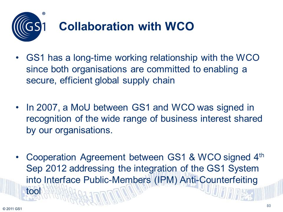 Collaboration with WCO