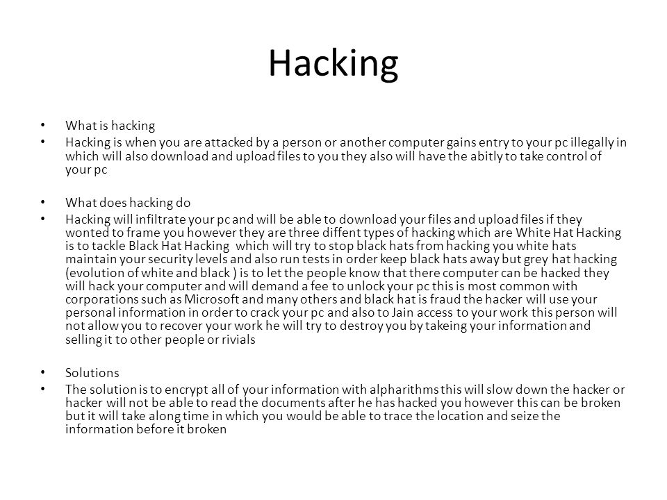 Hacking What is hacking
