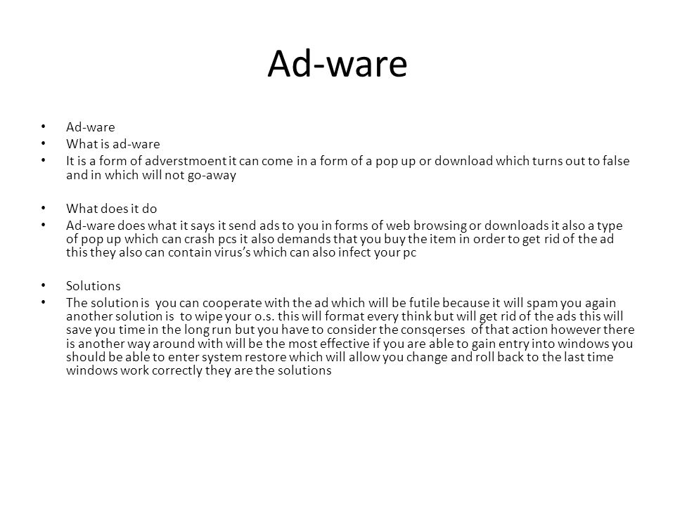 Ad-ware Ad-ware What is ad-ware