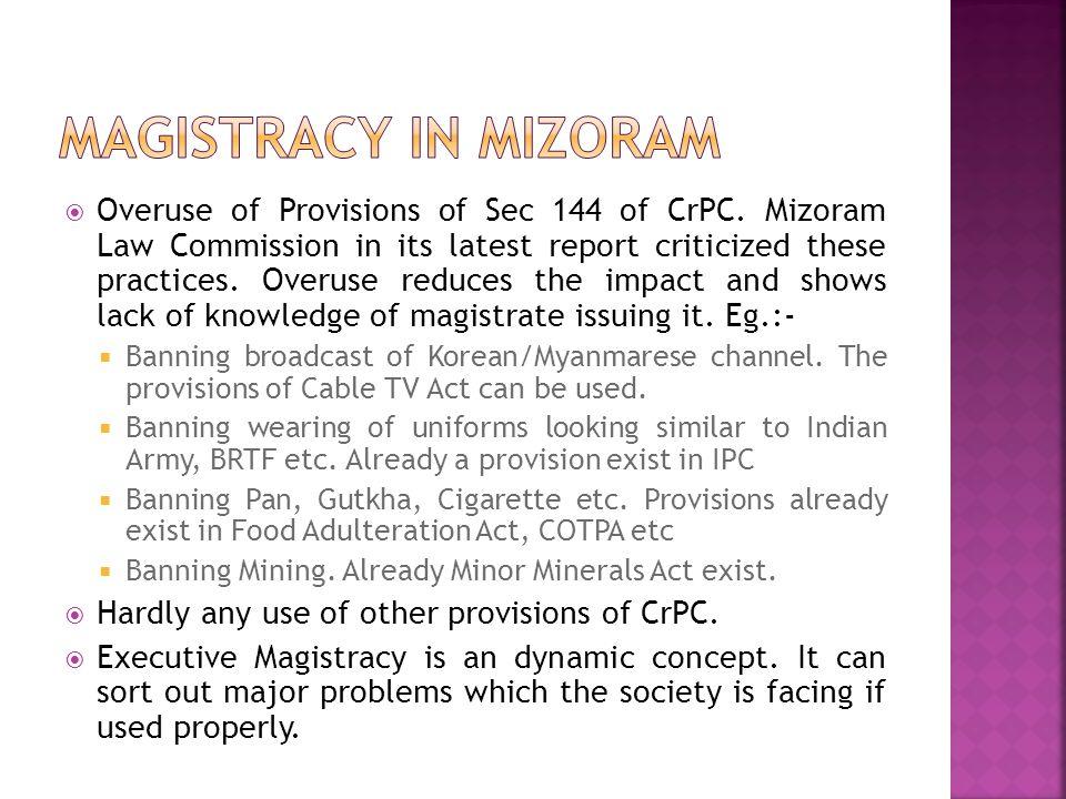Magistracy in Mizoram