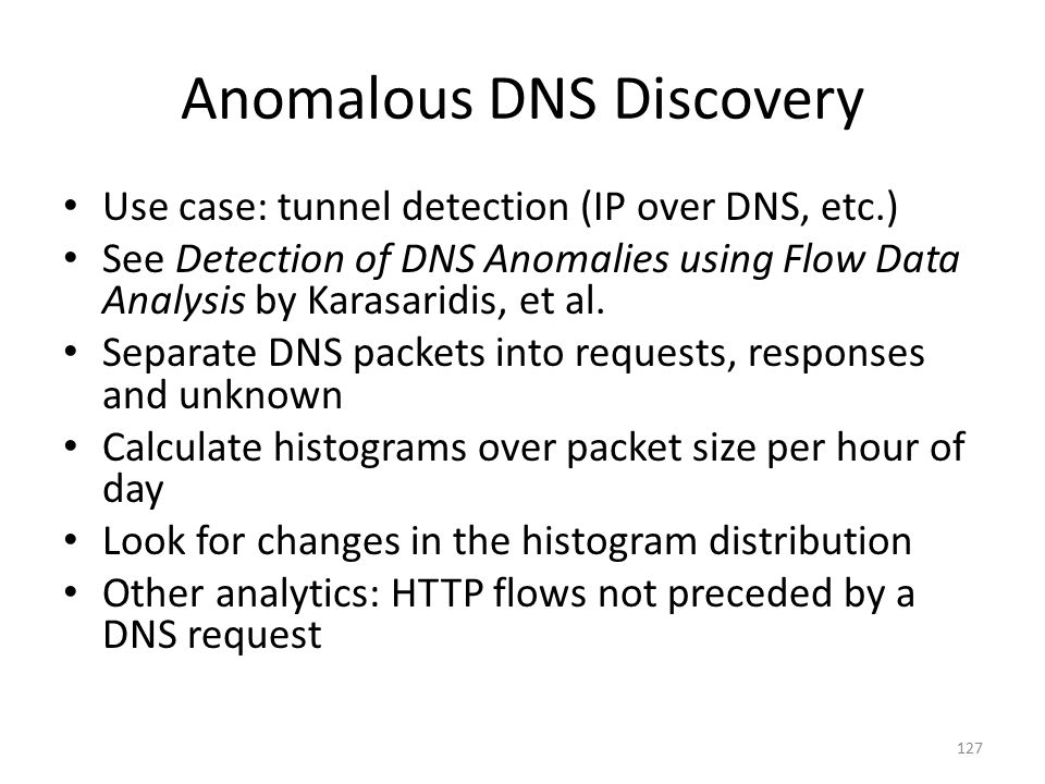 Anomalous DNS Discovery