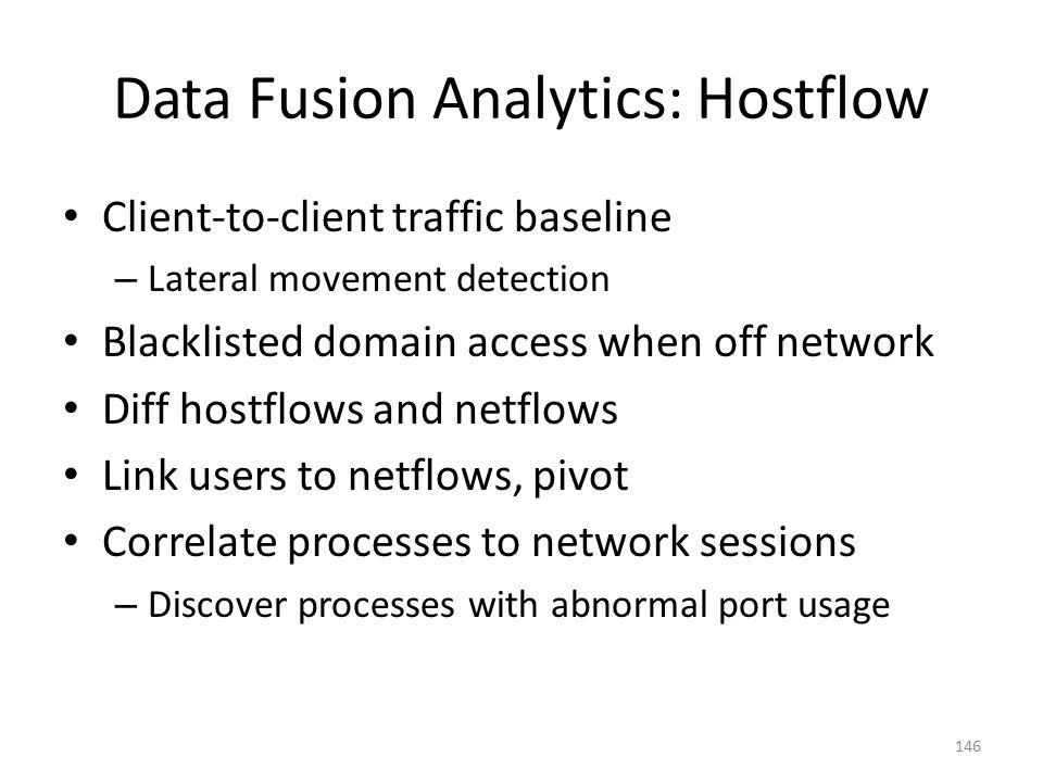Data Fusion Analytics: Hostflow