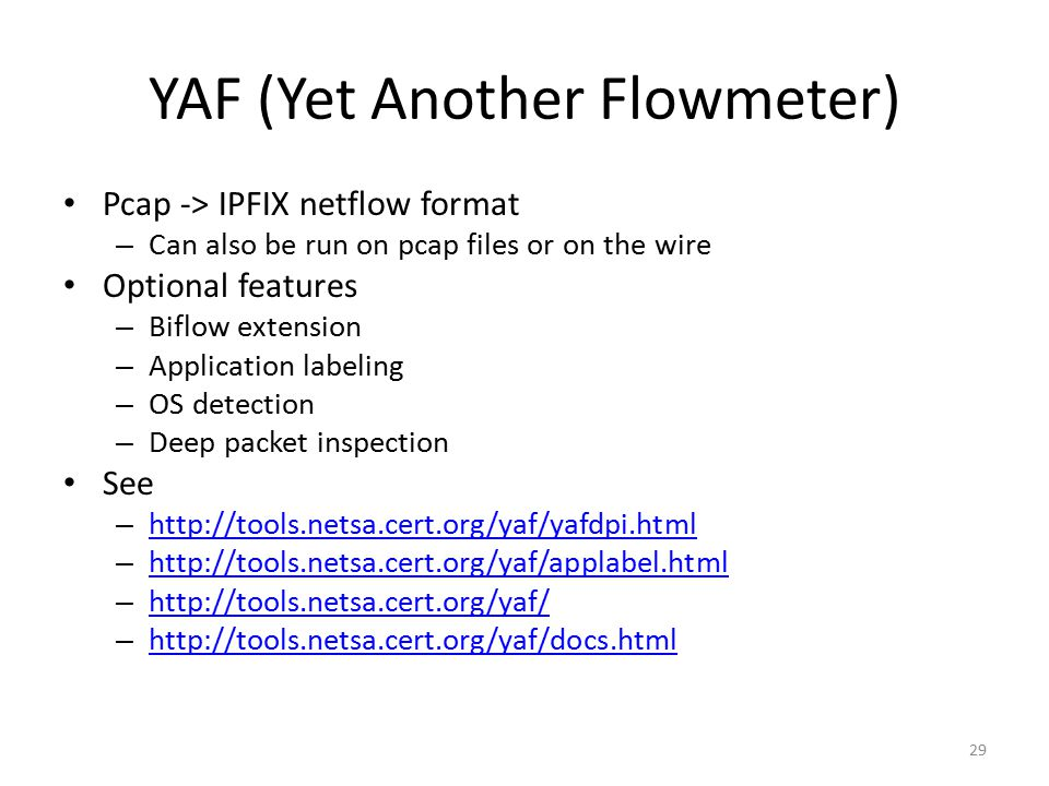 YAF (Yet Another Flowmeter)